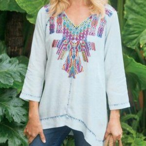 Soft Surroundings Tunic Top Mexican Mixteca Size M